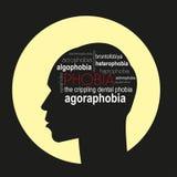 phobien Auch im corel abgehobenen Betrag Lizenzfreies Stockfoto