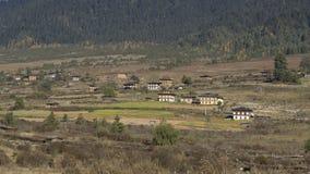 Phobjikha谷 不丹王国 免版税图库摄影