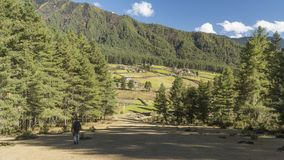Phobjikha Valley. Kingdom of Bhutan Royalty Free Stock Image