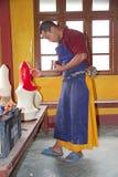 Phodong修道院的和尚,甘托克,锡金,印度 库存照片