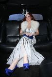 Phoebe Price. Preparing to go to the American Music Awards, Private Location, Los Angeles, CA 11-20-11  EXCLUSIVE Stock Photography