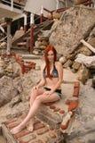 Phoebe Price. Photo shoot at Malibu Beach, Malibu, CA 05-12-08 Stock Images