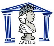 Аполлон, phoebus, античный бог Стоковые Фотографии RF