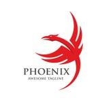 Phoenix που συμβουλεύεται το διάνυσμα λογότυπων Στοκ Εικόνες