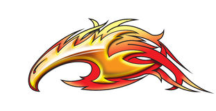Phoenix. A stylized phoenix for decorative purposes Stock Images