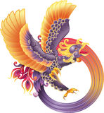 Phoenix. A beautiful illustration of a phoenix in flight, representing rebirth Royalty Free Stock Image