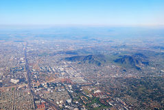 воздушный взгляд phoenix города Аризоны Стоковое Изображение RF