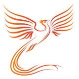 силуэт phoenix птицы Стоковое Изображение RF
