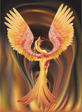 Phoenix. A phoenix rising from the ashes, my entry for the June vector competition Royalty Free Stock Photo