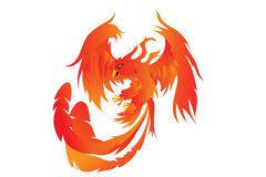 Phoenix. Vector Illustration of a Phoenix Stock Images