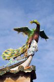 Phoenix. On an asian temple roof Stock Photo