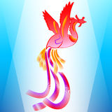 Phoenix. Abstract Stylized Colored Phoenix Background Royalty Free Stock Photo