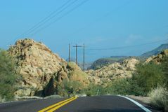 Phoenix, Arizona. Apache Trail road Stock Photography