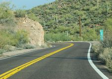 Phoenix, Arizona. Apache Trail road Royalty Free Stock Photos