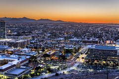 Phoenix Arizona City Overlook Royalty Free Stock Photo