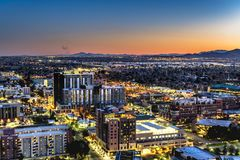 Phoenix Arizona City Overlook Royalty Free Stock Images