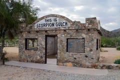 Phoenix Arizona Historic Landmark Scorpion Gulch stock image