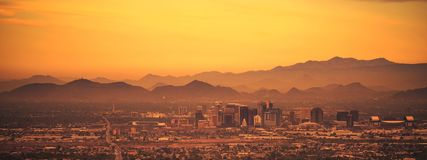 Phoenix Arizona Panoramiczny obraz royalty free