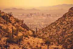 Phoenix Arizona State Capitol. City of Phoenix Between Desert Hills. United States of America stock photos