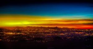 Phoenix Arizona Sunset. Sunset of the City of Phoenix Arizona stock image