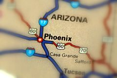 Phoenix, Arizona -  United States U.S. Phoenix, the capital city of the U.S. state of Arizona Royalty Free Stock Photo