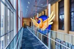 Phoenix Art Object på den Kyoto internationalen Manga Museum Arkivfoto