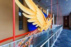 Phoenix Art Object på den Kyoto internationalen Manga Museum Arkivfoton