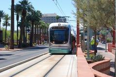 Phoenix, AZ light rail. Light rail standing in station uptown Phoenix Stock Image
