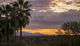 Phoenix, Az sunset valley of the sun Royalty Free Stock Photo