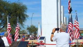 """Phoenix AZ-/USA †""""11/11/2017: Beskyddare för veterandag tar Pics av minnesmärken arkivfilmer"""