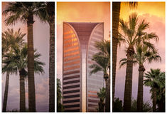 Phoenix, Az zmierzchu słońce dolina zdjęcie royalty free