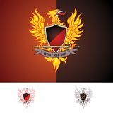 Phoenix bird. In three color themes (full colour, 2 colours, 1 colour Royalty Free Stock Photography