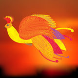 The Phoenix bird as a symbol of rebirth,  illustration Royalty Free Stock Photos