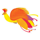 The Phoenix bird as a symbol of rebirth,  illustration Royalty Free Stock Photo