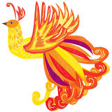 The Phoenix bird as a symbol of rebirth, vector illustration Stock Image