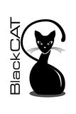 Phoenix Bird. Black Cat logo with text stock images