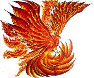 Phoenix Bird. Digital Art, Colourful, Vibrant, Myth, Fantasy, Painting... Great for display Download Dotted yellow, red orange watermark on dreamtime royalty free stock photos