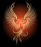 Phoenix Bird. Illustration of flying Phoenix Bird as symbol of revival Royalty Free Stock Photography