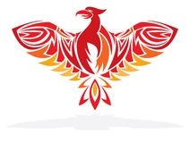 Phoenix bird  illustration Royalty Free Stock Photos