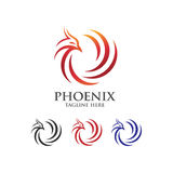 Phoenix Bird logo. Luxury phoenix abstract consulting element logo icon concept Royalty Free Stock Photo