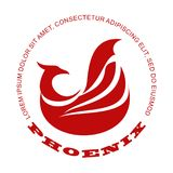 Phoenix bird logo. Stylized graphic phoenix bird logo templates. Collection of creative phoenix bird logotype templates, growth, development, power concept Royalty Free Stock Photos