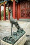 Phoenix brązowieje statuę - Zakazujący miasto, Pekin, Chiny Zdjęcia Royalty Free