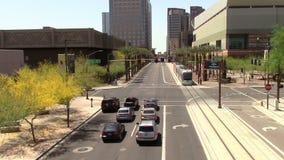 Phoenix céntrica, calle de Arizona almacen de metraje de vídeo