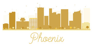 Phoenix City skyline golden silhouette. Stock Photography
