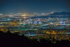 Phoenix Cityscape på natten Royaltyfri Fotografi