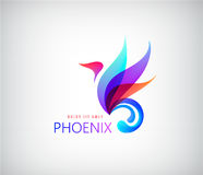 Phoenix colorful brand, animal logo, hotel fashion concept. Royalty Free Stock Images