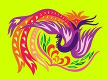 Phoenix con la flor Imagen de archivo libre de regalías