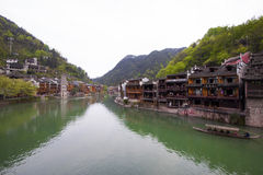 Tuojiang River both banks scenery in Phoenix County, china Royalty Free Stock Image
