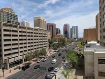Phoenix de stad in, AZ royalty-vrije stock afbeelding