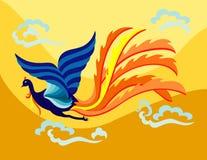 Phoenix de voo oriental Imagens de Stock Royalty Free